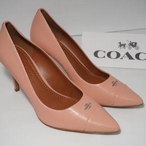 COACH Patrice Logo Pointed Toe Pumps Heels Dress